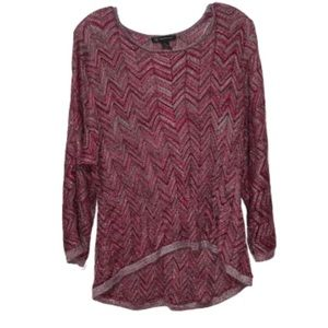INC Purple Chevron Top sz XL